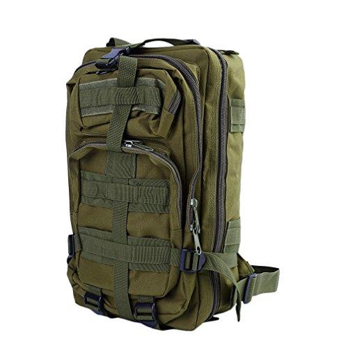 Hongyans Militärische Taktische Rucksack-Molle-Rucksack-Camping-wandernde Trekking-Tasche (Armee-Grün)