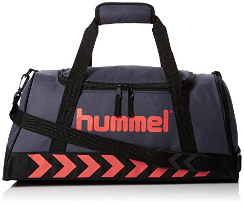 Hummel Kinder Authentic Sports Bag Tasche, Ombre Blue/Nasturtium, 50 x 23 x 27 cm