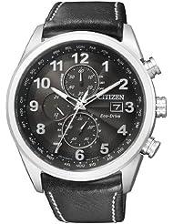 Citizen Herren-Armbanduhr Analog Quarz Leder AT8011-04E
