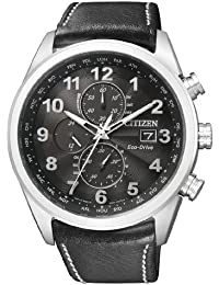 Citizen Herren-Armbanduhr XL Analog Quarz Leder AT8011-04E