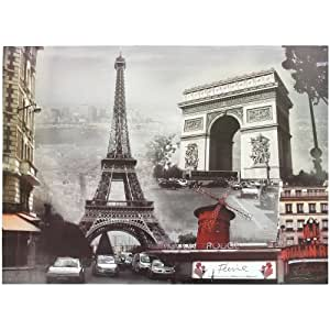 Paris - Planche Stickers Autocollant Paris Chic Glamour 25x34cm