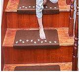 Selbstklebender Teppich Leuchtender selbstklebender Teppichboden Luminous Visual Treppe Teppich Pad Anti-Skid Treppenhaus Mats Safe Treppen Soft HKFV (Kaffee)