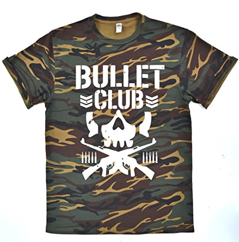 b910586e65a2b Bullet Club CAMO Mens T-Shirt Pro Wrestling Japan MMA WWE WCW UFC NJPW Top