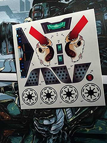 Star Wars Clone Wars Custom repro die cut stickers/decals/labels Arc-170 Arc 170