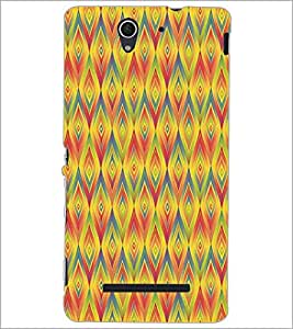 SONY XPERIA C3 DIAMOND PATTERN Designer Back Cover Case By PRINTSWAG