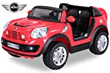 NEU Kinder Elektroauto Lizenzierter Original BMW Mini Beachcomber Lizenziert 2 x 45 Watt Motor Elektro Kinderauto Kinderfahrzeug (rot)