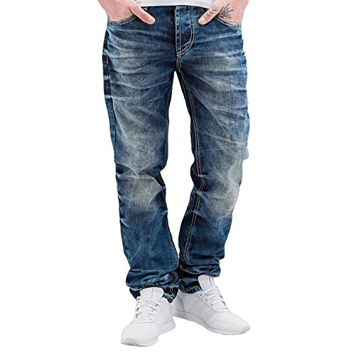 Cipo & Baxx Herren Jeans / Unswervingly Fit Jeans Stevenage blau W 31 L 32