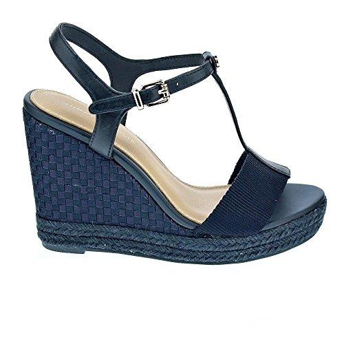 Tommy Hilfiger Chaussures Compensées Elena Pop Bleu Marine Pour Femme Bleu