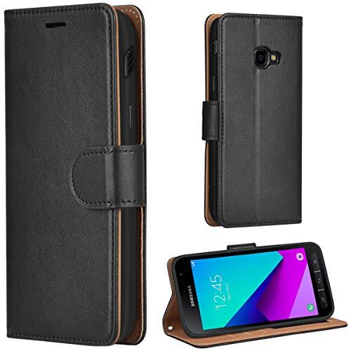 Leaum Galaxy Xcover 4 Hülle Handyhülle Brieftasche Leder Tasche Flip Case für Samsung G