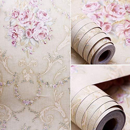 LZYMLG selbstklebende PVC-Tapete Studenten Wohnheim Schlafzimmer Tapete Wohnzimmer alte Möbel renoviert Wandpaste wasserdicht und staubdicht 45cm x 10m G