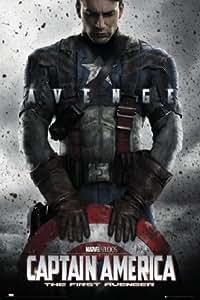 1art1 54159 Captain America - The First Avenger, Teaser Poster 91 x 61 cm
