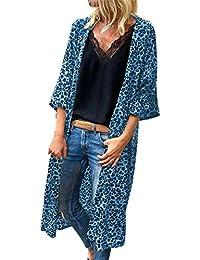 DEELIN Moda De La Mujer De Manga Larga De Leopardo De ImpresióN Chaqueta  Blusa Camiseta Tops b3d7b3d89966