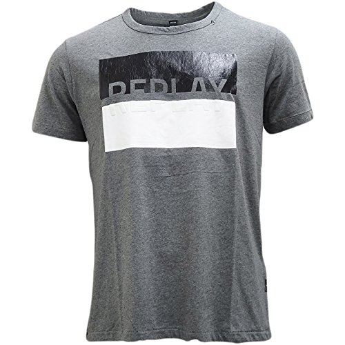 Replay -  T-shirt - Basic - Classico  - Maniche corte  - Uomo Grey X-Large