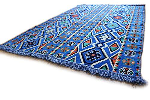 Tappeto orientale kelim, kilim, carpet, 200 x 135 cm, in stile damascato s 1-4-42
