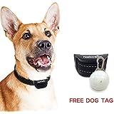 Nakosite PET2433 das beste Anti-Bell Hundehalsband, stoppt das Bellen von Hunden. Es verwendet akustisch wahrnehmbare Geräusche und Vibrationen. KEINE ELEKTROSCHOCKS. Fortschrittlichste Chiptechnologie mit 7 einstellbaren Empfindlichkeitsreglern. Flexible und verstellbare Nylonbänder für kleine, mittlere oder große Hunde. Farbe: Schwarz. BONUS: GRATIS LED HUNDEMARKE