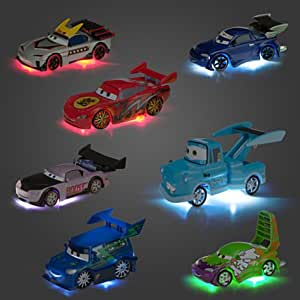 light up cars disney pixar cars light up tokyo die cast deluxe set 310