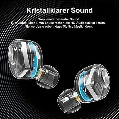 Bluetooth Kopfhörer, ENACFIRE E18 Bluetooth Kopfhörer in Ear Bluetooth 5.0 Headset Stereo-Minikopfhörer Sport Kabellose Bluetooth Kopfhörer mit Portable Mini Ladekästchen und Integriertem Mikrofon