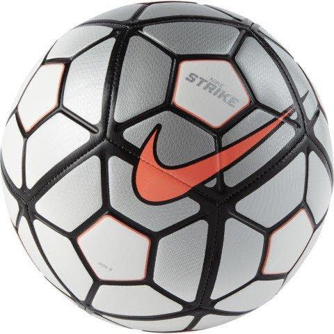 Nike Strike Ball Unisex, Unisex – Erwachsene, Blanco / Plata / Naranja (Wht/Slvr/Hyperorange), 38 (Liverpool-fußball-ball)
