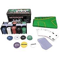 Iso Trade Texas Holdem Poker Set 200 Chips Black Jack Kartenspiel Pokerkartenspiel #600