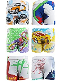 UCARE Pure Cotton Multi-Coloured Trunk for Boys & Kids (6005-Pack of 6)