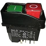 5pins AC-315A 250V Ip55impermeable electromagnética taladro Push botón pulsador Interruptor magnético máquina interruptores dz-6, CE TuV