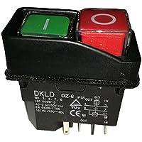 AC-3 15A 250 V IP55Wasserdichte, elektromagnetische Maschinenschalter, magnetische Bohrermaschninendrucktasten, DZ-6, CE-TÜV, 5 Stifte