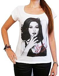 Monica Bellucci 2 : T-shirt Femme photo de star,Blanc, t shirt femme,cadeau