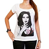 One in the City Monica Bellucci 2 : T-Shirt Femme Photo de Star,Blanc