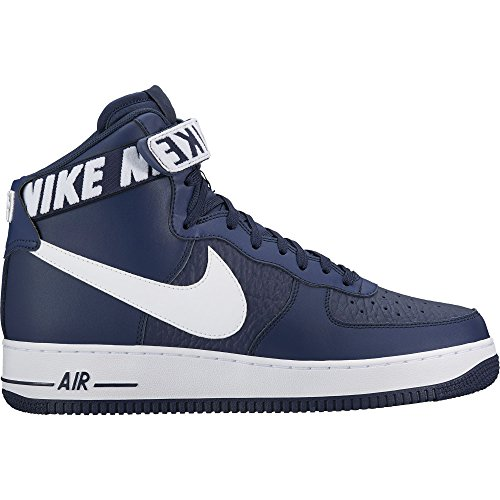 """Nike Air Force One AF-1 High '07 NBA Edition """"College Navy"""" Retro, Chaussures de Course Pour Hommes"""