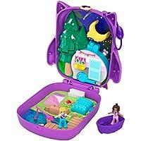 Polly Pocket Coffret Univers La nuit en Forêt du Hibou avec mini-figurines Polly et Shani, autocollants et surprises, jouet enfant, édition 2020, GKJ47