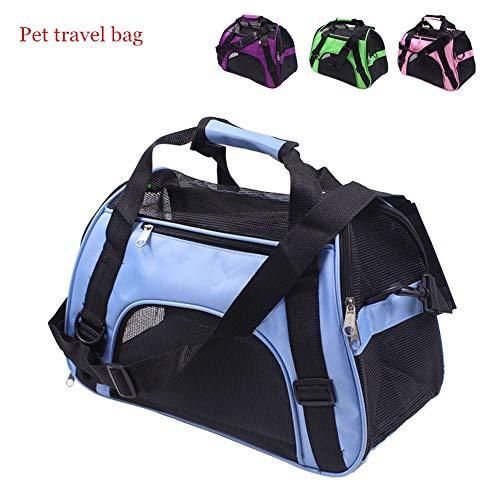 MUZI Haustier-Reisetasche, tragbar, Haustier-Rucksack, für Hunde geeignet, Crossbody-Tasche, faltbar