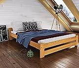 Magnat Niva Cadre de lit en pin massif, ALDER, 120 x 190 cm