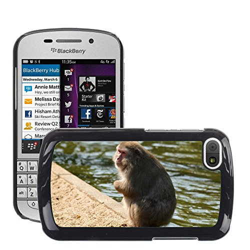 GoGoMobile Carcasa Funda Prima Delgada SLIM Casa Case Bandera Cover Shell para // M00123883 Crackers Monkey Business Zoo Series // BlackBerry Q10