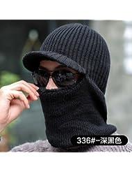 XPY&DGX hat,cap Male winter plus velvet thick wool hat autumn and winter warm tide youth Baotou bra tongue knit cap female, 56-58cm