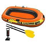 INTEX 58357NP - Barca hinchable Explorer Pro 200 con remos e hinchador