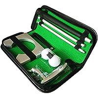 LIOOBO 1 Juego de Herramientas de Entrenamiento de Golf duraderas prácticas de aleación Kit de Golf portátil Juego de Putter de Golf para Viajes Regalo al Aire Libre Interior