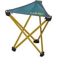 Uquip Trinity Portable Folding Tripod Stool for Camping and Sports - Petrol Blue/Gold