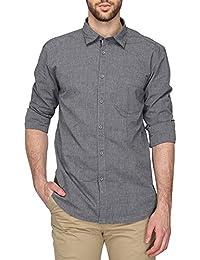 STOP to start Stop by Shoppers Stop Mens Regular Collar Slub Shirt