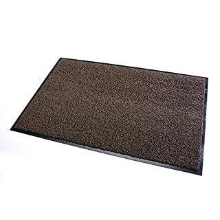 High Quality Rug & Shoe Scraper ✓ Extremely Durable ✓ Exterior and Interior ✓ Washable ✓ PVC Free - Entrance Mat, Welcome Mat - Exterior dust mat, Dirt trapping mat (SANSIBAR 40x60 cm, brown)