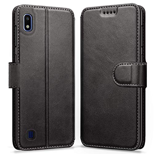 ykooe Coque Samsung Galaxy A10, Housse en Cuir Portefeuille Protection Etui pour Samsung Galaxy A10 (Noir)