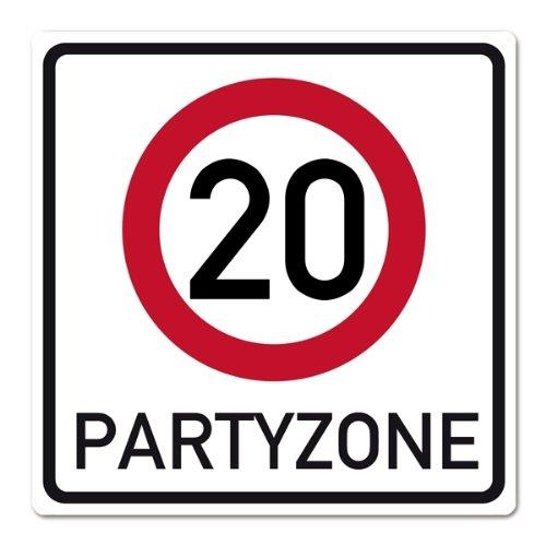 private signs Riesiges PVC Verkehrsschild zum 20. Geburtstag 50cm x 50cm