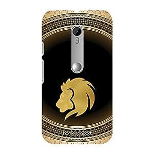 HomeSoGood Leo Zodiac Sign Gold 3D Mobile Case For Moto G 3rd Gen (Back Cover)