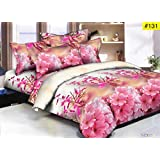 Comforter - Double Bed Luxurious Comforter Set - 4 Pc Set - (1 Comforter + 1 Double Bedsheet + 2 Pillow Cover)