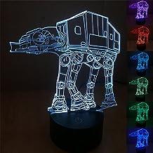 SmartEra® 7 clases de colores del cambio, de la ilusión óptica 3D Button Star Wars Serie AT-AT Imperial Walker Modelo táctil USB Escritorio LED de luz / lámpara de tabla