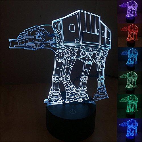 SmartEra® 7 Arten Von Farbkonvertierung , 3D Optische Täuschung Star Wars  Serie AT AT Walker Imperialen Modell USB Touch Taste LED Schreibtischlampe  / ...