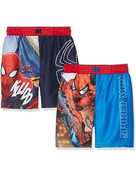 FABTASTICS Spiderman, Bañador para Niños (Pack de 2)