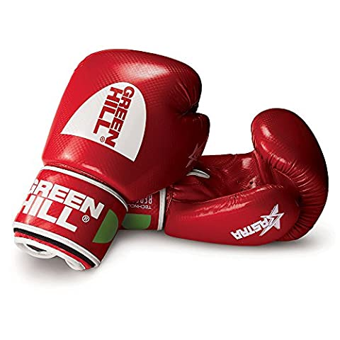 Green Hill Astra Boxing Gloves - Red, 10 oz