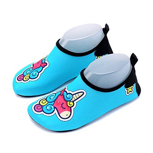 Kinder Aquaschuhe Wasserschuhe Mädchen Jungen Badeschuhe Baby Schwimmschuhe Strandschuhe Surfschuhe Barfuß Schnell Trocknend Schuhe Socken Stern
