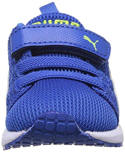 Puma Carson Runner Baby Jungen Babyschuhe - Lauflernschuhe Blau - Bleu (Strong Blue/White)