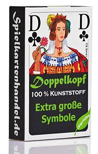 Doppelkopf Senioren Karten aus 100% Kunststoff *PREMIUM* (Plastik +) Spielkarten Französisch, wasserfest (Kunststoff-spiel-karten)